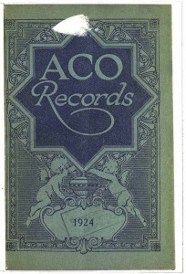 ACO Records Catalogue 1924