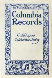 Columbia Records - Catalogue Celebrities Series